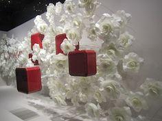 Cartier @ Galeries Lafayette, paper roses window promotion, Paris @}-,-;—