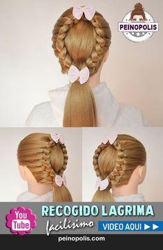 Trenza lagrima o gota un peinado facil y rapido para cabello largo