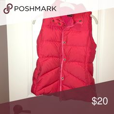 Puffer vest Coral colored vest from jcrew. Warm inside. J. Crew Jackets & Coats Puffers