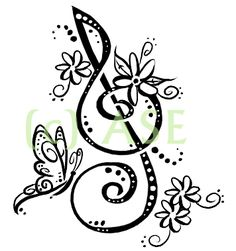 New tattoo music butterfly treble clef ideas Design My Own Tattoo, Music Tattoo Designs, Music Tattoos, Body Art Tattoos, New Tattoos, 16 Tattoo, Note Tattoo, Music Drawings, Pencil Art Drawings