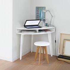 Gain de place pour le coin informatique : Bureau console d'angle, Grimsby La Redoute | La Redoute