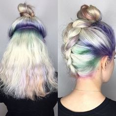 Cute alternative bun. I've never been able to manage the upside-down french braid bun, but this seems to be an easier method (though with a Dutch braid rather than French braid).