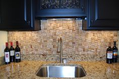 Finally found a purpose for all those corks I've been saving, wine cork back splash. . . eventually.