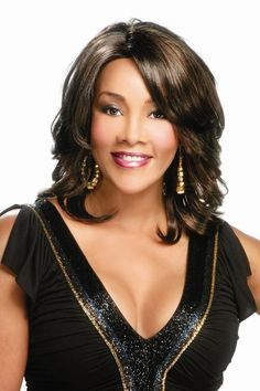 "Vivica A. Fox Pure Stretch Cap - Autumn 15"" SIDE ZIG ZAG PART STRAIGHT TOP…"
