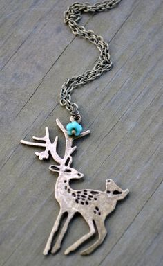 Deer Necklace by cynicalredhead on Etsy
