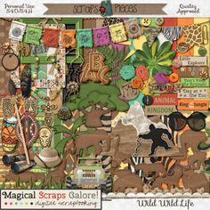 Kit: Wild Wild Life (Animal Kingdom) by Magical Scraps Galore