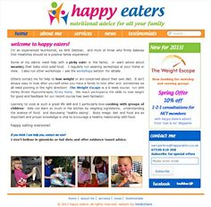 A fun and colourful Wordpress theme for Happy Eaters by Diane Wallace
