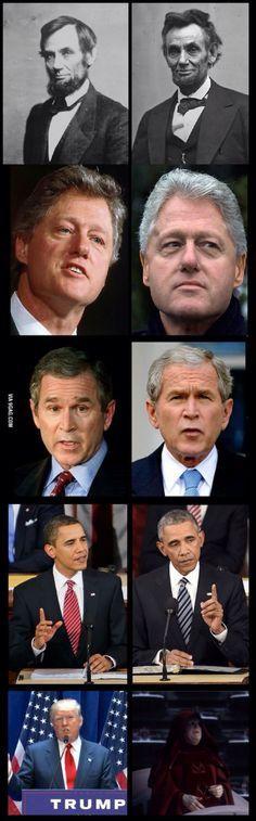 Presidential aging #starwars #donald trump