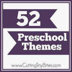 Need a list of themes to use for planning your preschool year?  Here are 52 great themes or units!  Each is broad enough to easily find a week's worth of activities to do!