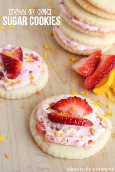 Strawberry Orange Sugar Cookies.