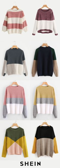 Color block sweaters