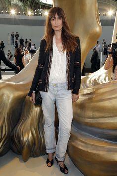 Caroline de Maigret lors du défilé Chanel haute couture automne-hiver 2011-2012