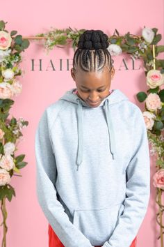 Bubble bun with plaits. Perfect for ballet and gymnastics. Natural Hair Salons, Natural Hair Styles, No Heat, Plaits, Girl Hairstyles, Gymnastics, Bubble, Ballet, Girls
