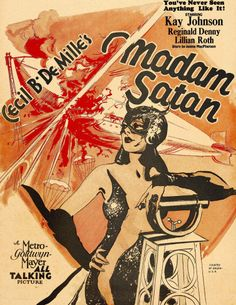 Madame Satan, Kay Johnson on Window Card, 1930 Movies Photo - 46 x 61 cm Good Girl, Vintage Movies, Vintage Posters, Unfaithful Husband, Roland Young, Kay Johnson, She Mask, Window Cards, Streaming Movies