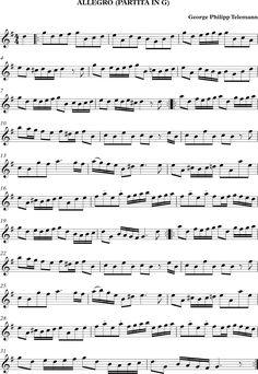 Descubriendo la Música. Partituras para Flauta Dulce o de Pico.: Allegro…