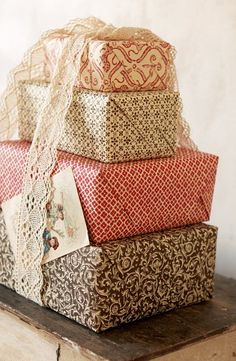 Pretty presents ...I love presents. ........I do I do