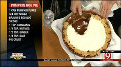Pumpkin Nog Pie - NewsOn6.com - Tulsa, OK - News, Weather, Video and Sports - KOTV.com  