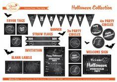 free-halloween-chalkboard-party-printables IDEAS FIESTA - PRINTABLES