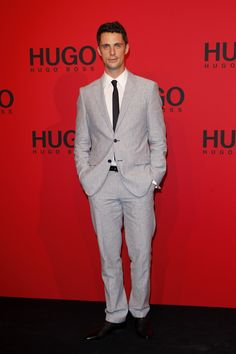 Matthew Goode in BOSS Selection on the red carpet at the HUGO Fashion Show Spring/Summer 2013 in Berlin.