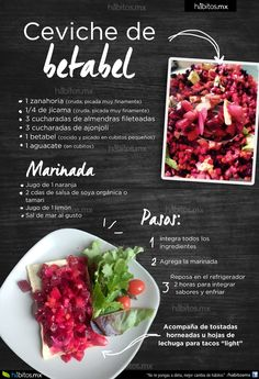 Hábitos Health Coaching   CEVICHE DE BETABEL