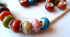 20 Acrylic Colorful Vein Beads. Starting at $5 on Tophatter.com!