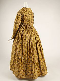 Dress Date: ca. 1840 Culture: British Medium: cotton