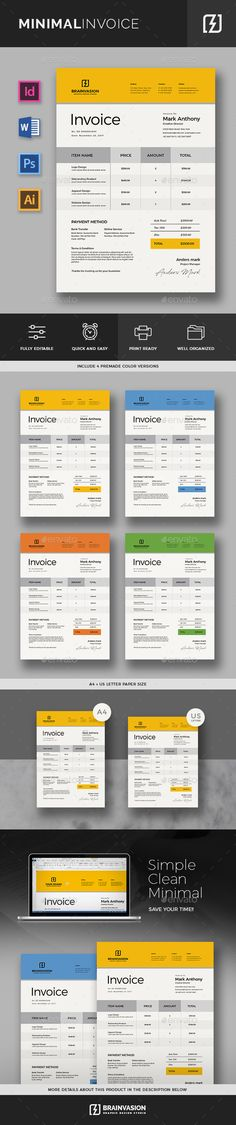 Invoice Proposals, Invoice template and Stationery - invoice simple