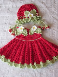 Handmade Girl Crochet Dress and Hat Set With by MagicalStrings, $52.00