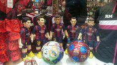 #FCB figures in Ramblas by #BubuzZ  Buy now: www.bubuzz-dolls.com