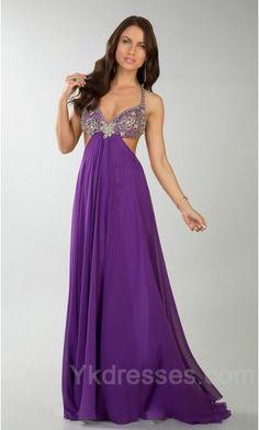 Cute Chiffon Purple Sweetheart A-Line Evening Dress Sale ykdress10210