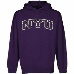 NCAA NYU Violets Arch Applique Pullover Hoodie - Purple by Football Fanatics. $49.95. NYU Violets Arch Applique Pullover Hoodie - Purple32 Singles ringspun cotton for ultimate softnessHood with heavy-duty shoelace drawstringFitted bodyReinforced taped collar seam80% Cotton/20% Polyester inner fleece liningOfficially licensed collegiate productImported10oz. Midweight premium fleecePre-shrunkFront pouch pocketJersey hood liningMidweight pullover hoodie with soft fleece liningRib-kn...