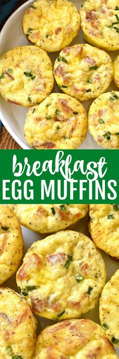 These Breakfast Egg Muffins are loaded with all your breakfast favorites! Perfect for busy mornings, weekend brunch, or even holidays....these egg muffins come together quickly and are sure to be a hit!