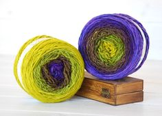 Hand Dyed Yarn - 100% Wool Color Grapevine Ombre by CraftyWoolFelt