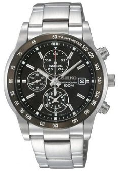 Seiko Men's SNDC99 Stainless Steel Analog with Black Dial Watch | Citizen Watches For You And Her