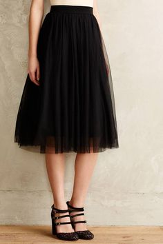 Tulle Midi Skirt, a holiday must  #anthrofave