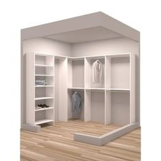 Shop for TidySquares Classic White Wood 93 x 84.25 Corner Walk-in Closet Organizer. Get free shipping at Overstock.com - Your Online Home Improvement Outlet Store! Get 5% in rewards with Club O!