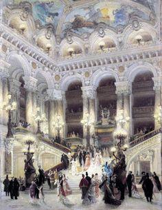 Louis Béroud: L'escalier de l'opéra Garnier, 1877.