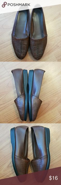 c80f0a34aa3 Predictions brown leather slip-on shoes These shoes were worn once and are  in like