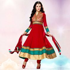 Smoking Hot- The Only Way To Be!  Looking for that perfect #red #anarkali that will hug your curves and make you sizzle? Your search ends now.  Shop with us!