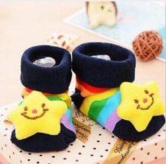 Cute Star Bear Crib Shoes 3 -12 Months
