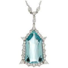 Colgante de plata y platino del diamante