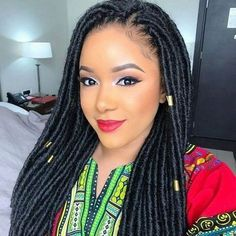 Synthetic Dreadlocks Hairstyles Crochet hair extensions Faux Locs Crochet braids 24 strands/pack Source by Box Braids Hairstyles, My Hairstyle, Girl Hairstyles, Black Hairstyles, American Hairstyles, Hairdos, Crochet Twist Hairstyles, Wedding Hairstyles, Casual Hairstyles
