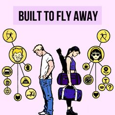 """Clint Barton & Kate Bishop Hawkeye squared c'mon hawkeye, let's get out of here (a platonic/romantic clint barton and kate bishop fanmix) """" [listen] monday morning death cab for cutie // troublemaker beach house // yet again grizzly bear //..."""