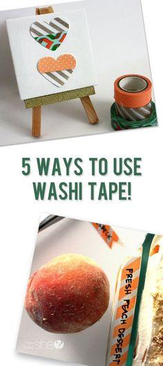 Five Easy Ways to Use Washi Tape #howdoesshe #decorating http://howdoesshe.com