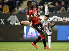 Bordeaux's Enzo Crivelli, right, kicks the ball during the French L1 soccer match against Rennes in Rennes, France.  Damien Meyer, AFP/Getty Images