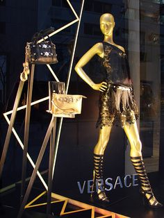 Beautiful Window Displays!: versace Showcase Store, Showcase Design, Retail Windows, Store Windows, Versace Store, Winter Window Display, Store Window Displays, Display Windows, Display Design