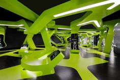 Level Green Exhibit  by J. Mayer H. Architects + Art+Com Berlin. Smart concept based on a recycle logo.