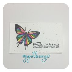 #handmadecard #papercrafting #stamping #butterfly #watercolor #paperblessings3