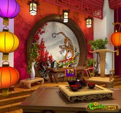 room in the Chinese style by https://www.deviantart.com/roma-n on @DeviantArt