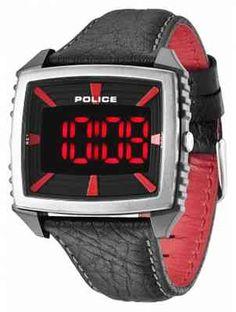 Police Men's Countdown Black & Red Watch 13890JPBS/02